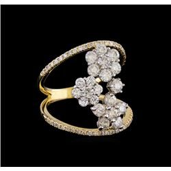 2.12 ctw Diamond Ring - 14KT White and Yellow Gold