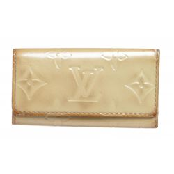 Louis Vuitton Beige Monogram Vernis Key Holder