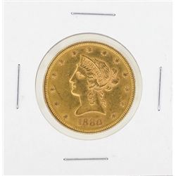 1880 $10 Liberty Gold Coin CU