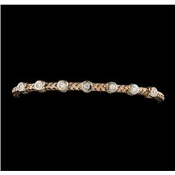 0.33 ctw Diamond Bracelet - 14KT Rose Gold