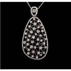 14KT White Gold 1.84 ctw Diamond Pendant With Chain