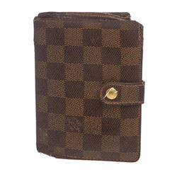 Louis Vuitton Damier Ebene Canvas Leather French Wallet