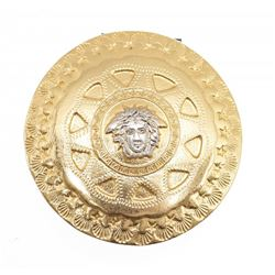 Gianni Versace Vintage Gold Medusa Hair Accessory Clip