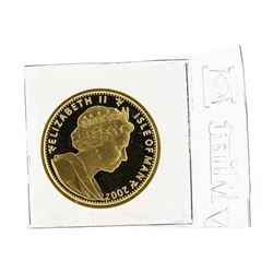 2002 Isle of Man 1/5 oz Gold Coin