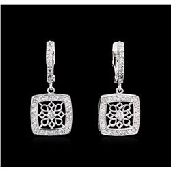 0.63 ctw Diamond Earrings - 14KT White Gold