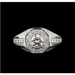 1.64 ctw Diamond Ring - 14KT White Gold