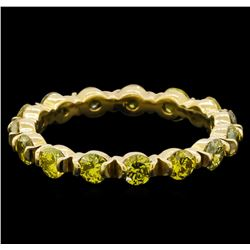 1.92 ctw Yellow Diamond Ring - 14KT Yellow Gold