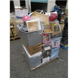 Skid of Assorted Storage Locker Goods