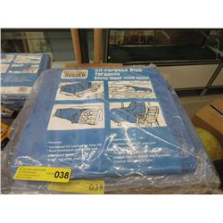 New Western Rugged 10 Foot x 16 Foot Blue Tarp