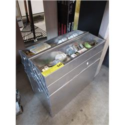 Fold Out Metal Tool Box with Contents