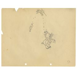 """Three Little Pigs"" Fifer Pig Production Drawing."