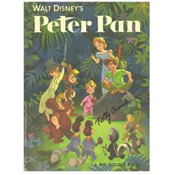 "Signed ""Peter Pan"" Big Golden Book."