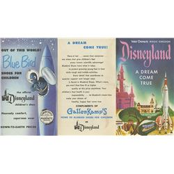 Disneyland Opening Year Brochure with Map.