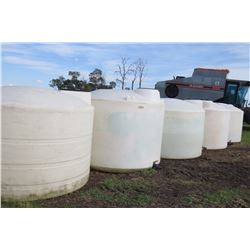 APPROX. 1250 GALLON POLY TANKS - CHOICE
