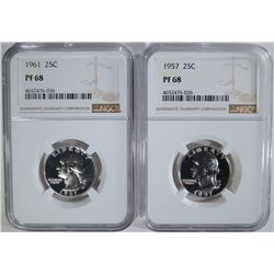 1957 & 1961 WASHINGTON QTRS NGC