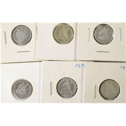 6-SEATED DIMES SOME BETTER DATES INCLUDED