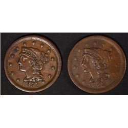 1853 & 1852 VF/XF LARGE CENTS