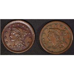 VF/XF LARGE CENTS: 1852 & 1853