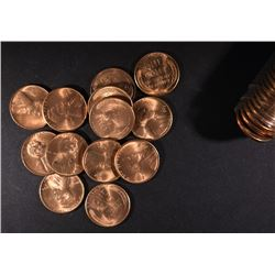BU ROLL OF 1950-S LINCOLN CENTS