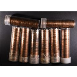 3-1954-S & 5-55-D BU LINCOLN CENT ROLLS