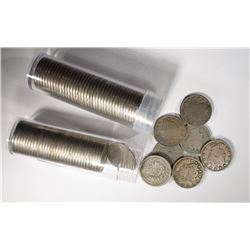 2 ROLLS VG OR BETTER LIBERTY NICKELS