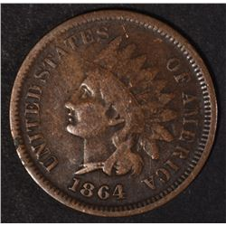 """1864 """"L"""" INDIAN CENT, VG/F"""