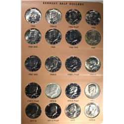 KENNEDY HALF DOLLAR SET: 1964-2012-D