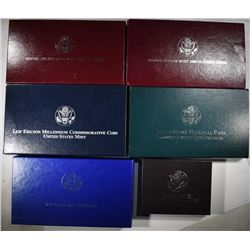 6-SILVER COMMEMORATIVE SETS