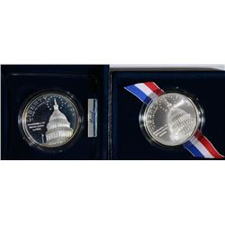 (2) Capitol Commemorative Silver Dollars.