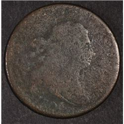 1806 DRAPED BUST HALF CENT, AG