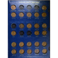 1909-40 PARTAL LINCOLN CENT SET: