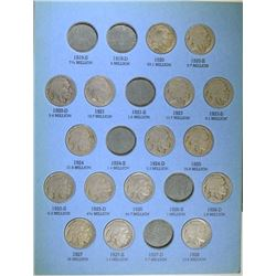 PARTIAL BUFFALO NICKEL SET: 46 DIFFERENT