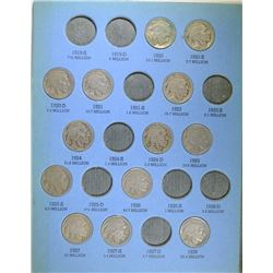 PARTIAL BUFFALO NICKEL SET: 39 COINS HAS SEMI-KEYS