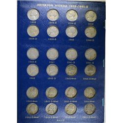 1838-64 JEFFERSON NICKEL COMPLETE SET NICE CIRC