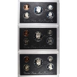 1996, 97 & 98 U.S. SILVER PROOF SETS