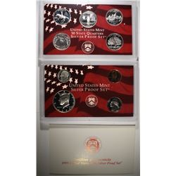 1999 U.S. SILVER PROOF SET ORIG BOX/COA