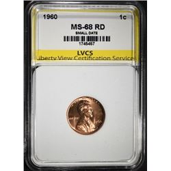 1960 SM DATE LINCOLN CENT, LVCS SUPERB GEM BU RED