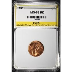 1961 LINCOLN CENT, LVCS SUPERB GEM BU+ RED