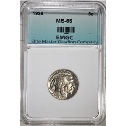 1936 BUFFALO NICKEL, EMGC GEM BU