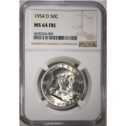 1954-D FRANKLIN HALF DOLLAR NGC