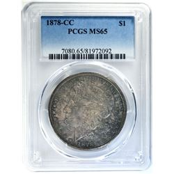 1878-CC MORGAN DOLLAR PCGS MS65