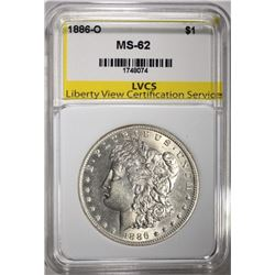 1886-O MORGAN DOLLAR LVCS CHOICE BU