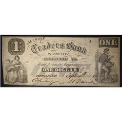 $1.00 NOTE, TRADERS BANK OF RICHMOND, VA