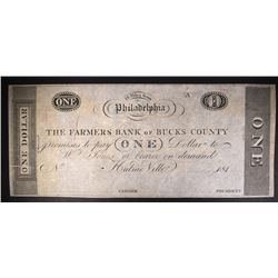 $1.00 NOTE FARMERS BANK OF BUCKS COUNTY