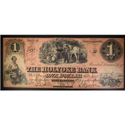 $1.00 NOTE HOLYOKE BANK OF NORTHHAMPTON, RARE!
