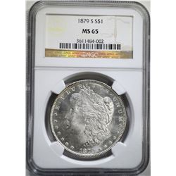 1879-S MORGAN DOLLAR NGC MS 65