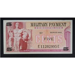 SERIES 692 FIVE CENTS MILITARY PAYMENT CERT.