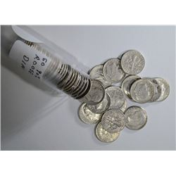 Roll of 52 Roosevelt 90% Silver Dimes