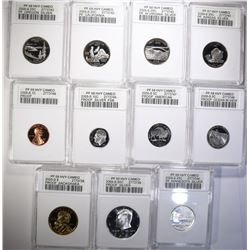 2005-S SILVER PROOF GRADED SET - 11 COINS