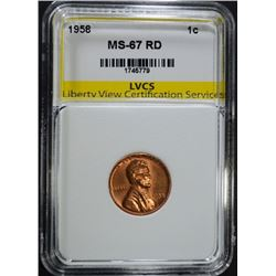1958 LINCOLN CENT LVCS SUPERB GEM BU RED
